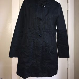 H&M Black Zip Toggle Hooded Jacket- Size 10